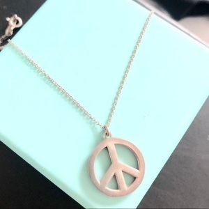 """Tiffany & Co. """"PEACE"""" sign necklace"""